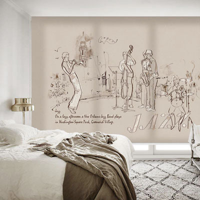 실사 롤스크린 일러스트 그림 암막, 방염, 거실 사무실 창문 롤 블라인드 인쇄 맞춤제작