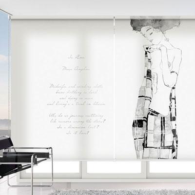 실사 롤스크린 명화 그림 암막, 방염, 거실 사무실 창문 롤 블라인드 로고 인쇄 맞춤제작
