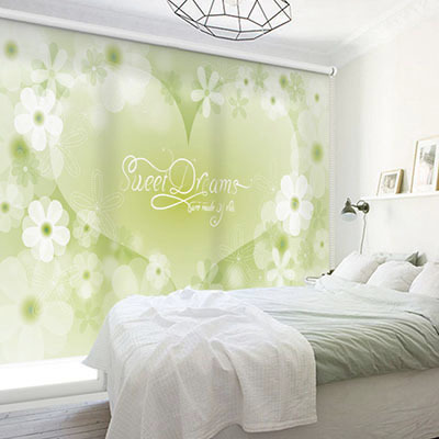 실사롤스크린 꽃 디자인 일러스트 암막 방염 거실 사무실 창문 롤 블라인드 인쇄 맞춤제작