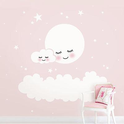 친환경 구름 아이방 그림 어린이집 꾸미기 아기 키즈 방염 실크 인테리어 포인트벽지