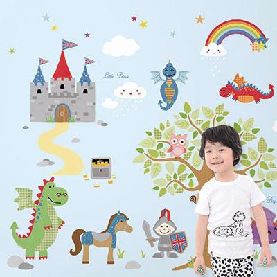 친환경 뮤럴 왕자 남자 아이방 캐릭터 그림 아기 아동 유아 키즈 방염 실크 인테리어 벽지