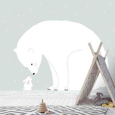 친환경 뮤럴 아이방 동물 캐릭터 그림 아기 아동 키즈 인테리어 꾸미기 인테리어 포인트벽지