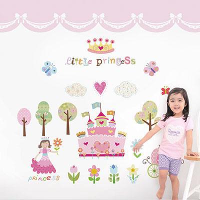 친환경 뮤럴 공주 여자 아이방 캐릭터 그림 아기 아동 유아 키즈 방염 실크 인테리어 벽지
