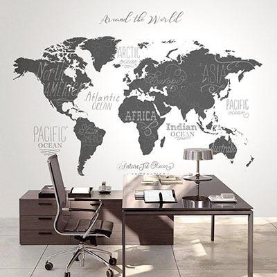세계지도벽지 디자인 맞춤 프린트 인테리어 뮤럴 벽지 [35 아트맵]