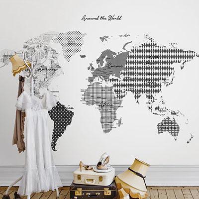 세계지도벽지 디자인 맞춤 프린트 인테리어 뮤럴 벽지 [36 아트맵]