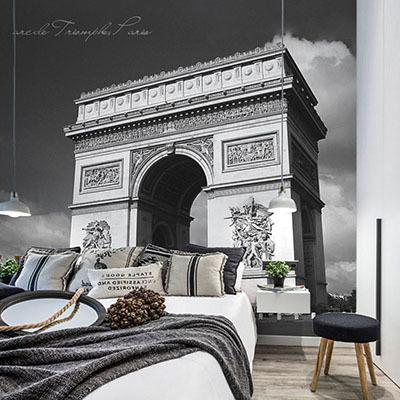 뮤럴 파리 도시풍경 실사 사진 디자인 인테리어 아트월 친환경 방염 실크 포인트벽지