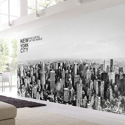 [뉴욕 2번] 친환경 맞춤 디자인 제작 포인트 뮤럴벽지