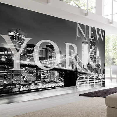 [뉴욕 3번] 친환경 맞춤 디자인 제작 포인트 뮤럴벽지