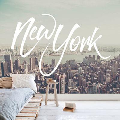 [뉴욕 4번] 친환경 맞춤 디자인 제작 포인트 뮤럴벽지