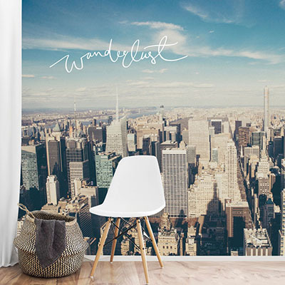 뮤럴 뉴욕 도시풍경 실사 사진 디자인 인테리어 아트월 친환경 방염 실크 포인트벽지
