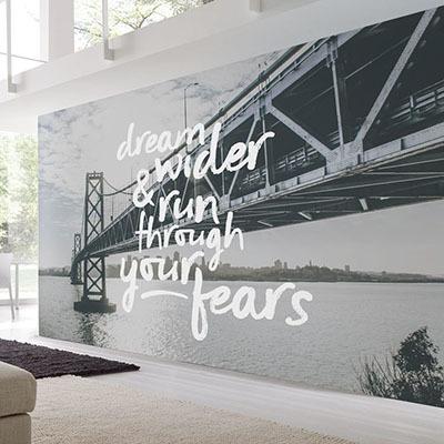 뮤럴 도시 풍경 실사 흑백사진 디자인 인테리어 아트월 친환경 방염 실크 포인트벽지