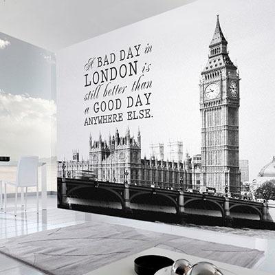 [런던 2번] 친환경 맞춤 디자인 제작 포인트 뮤럴벽지