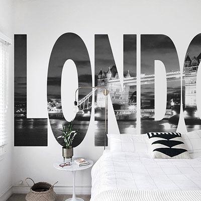 [런던 3번] 친환경 맞춤 디자인 제작 포인트 뮤럴벽지
