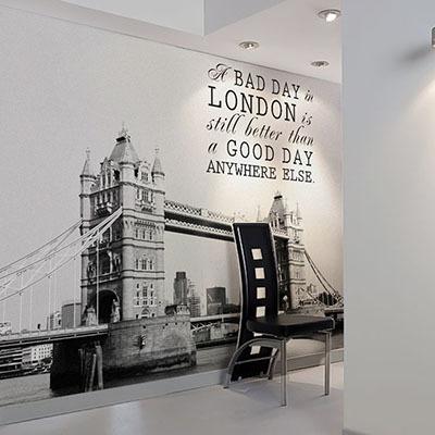 [런던 4번] 친환경 맞춤 디자인 제작 포인트 뮤럴벽지