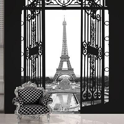[에펠탑 1번] 친환경 맞춤 디자인 제작 포인트 뮤럴벽지