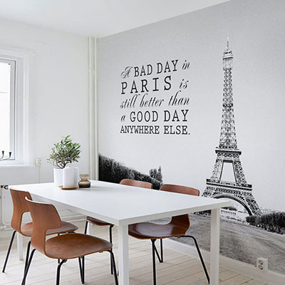 [에펠탑 3번] 친환경 맞춤 디자인 제작 포인트 뮤럴벽지