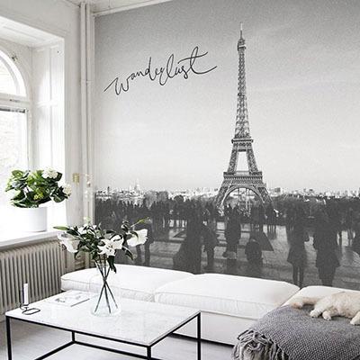 [에펠탑 5번] 친환경 맞춤 디자인 제작 포인트 뮤럴벽지