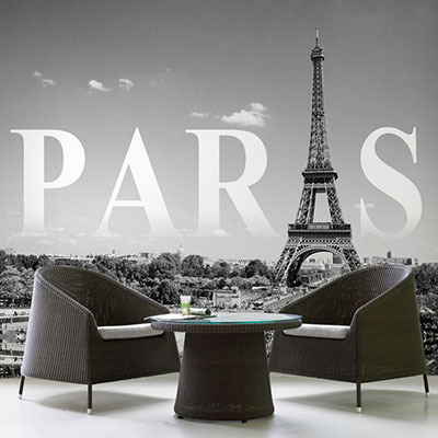 [에펠탑 6번] 친환경 맞춤 디자인 제작 포인트 뮤럴벽지