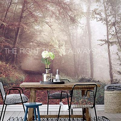 뮤럴 숲 나무 풍경 실사 사진 디자인 인테리어 아트월 친환경 방염 실크 고급 포인트벽지