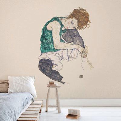 뮤럴 명화 그림 실사 디자인 인테리어 데코 아트월 친환경 방염 실크 고급 포인트벽지