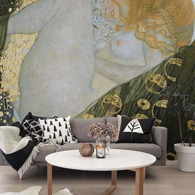 뮤럴 명화 클림트 그림 실사 디자인 인테리어 아트월 친환경 방염 실크 고급 포인트벽지