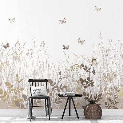 뮤럴 숲 그림 실사 디자인 인테리어 데코 아트월 친환경 방염 실크 고급 포인트벽지