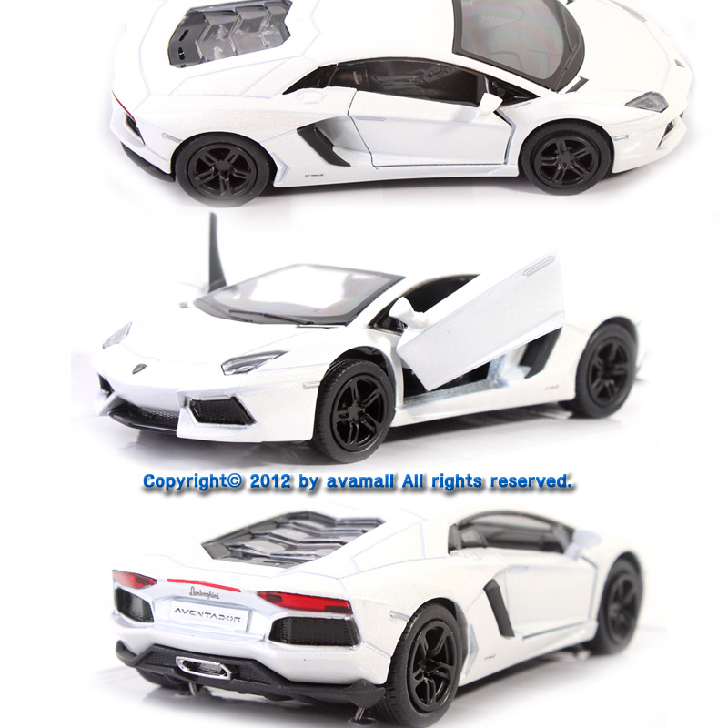 38 lamborghini aventador lp700 4 color white diecast kinsmart ebay