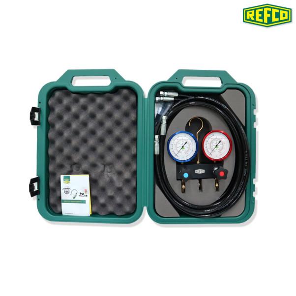 REFCO CO2 (R744) 매니폴드게이지 세트 M2-3-DELUXE-DS-R744-TC