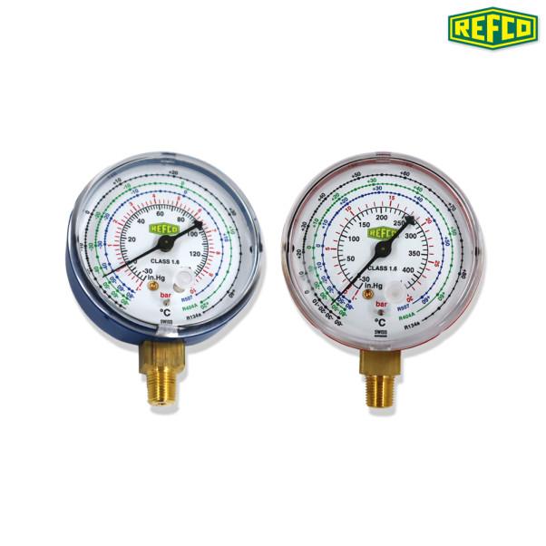 REFCO 단일게이지(저압/고압) M2-250-DS-R134a