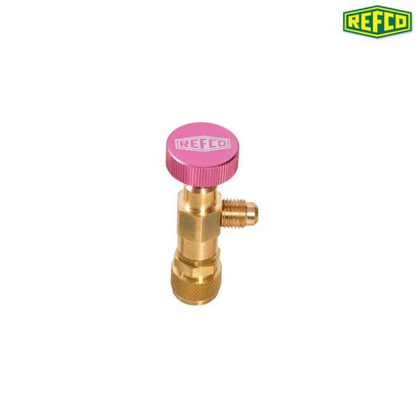 REFCO 냉매가스 컨트롤밸브 1/4인치 x 5/16인치 SAE A-38410