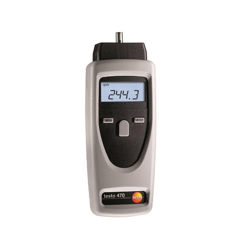 testo 470 적외선 및 접촉식 RPM 측정기
