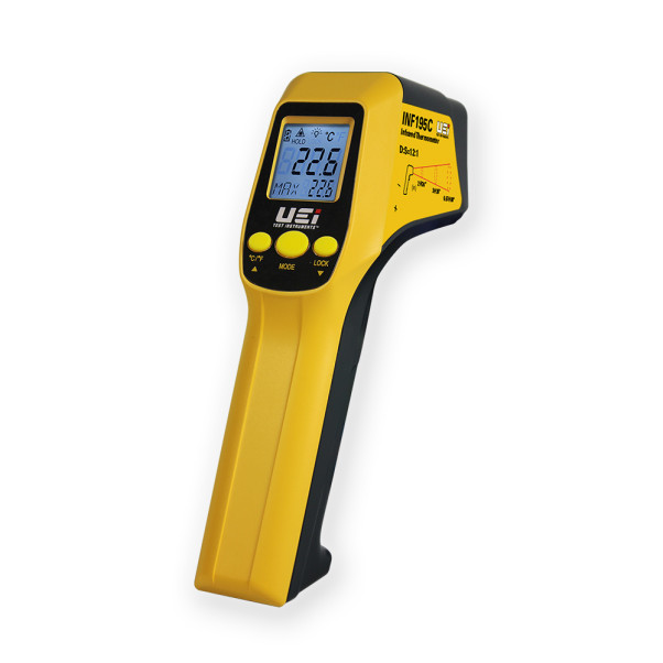 UEI 적외선 온도계, INF 195C, 휴대용 온도측정기, 적외선 측정기
