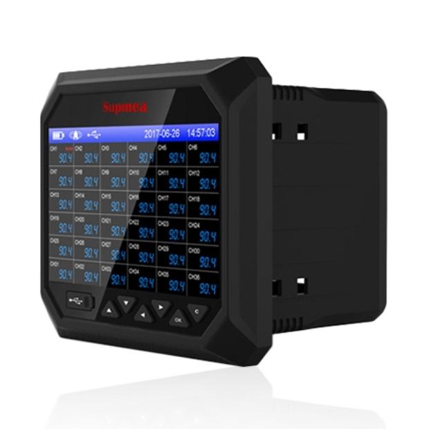 SUPMEA R6000F 온도 RTD TC 전류 전압 데이터로거 6채널
