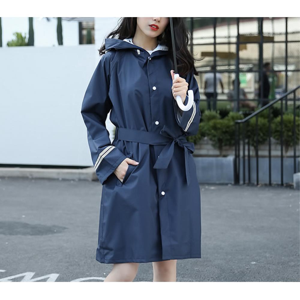 여름패션 비옷 우의 바람막이 레인코트(L) 등산용 방수옷