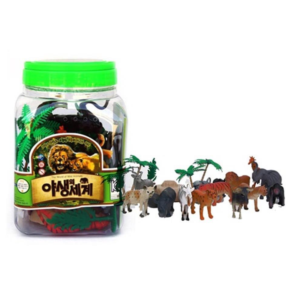 야생 동물 교구 피규어 장난감 야생의세계 모형동물 유치원