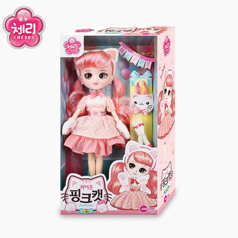 어린이날 선물 여자 인형 장난감 핑크캣 아기인형