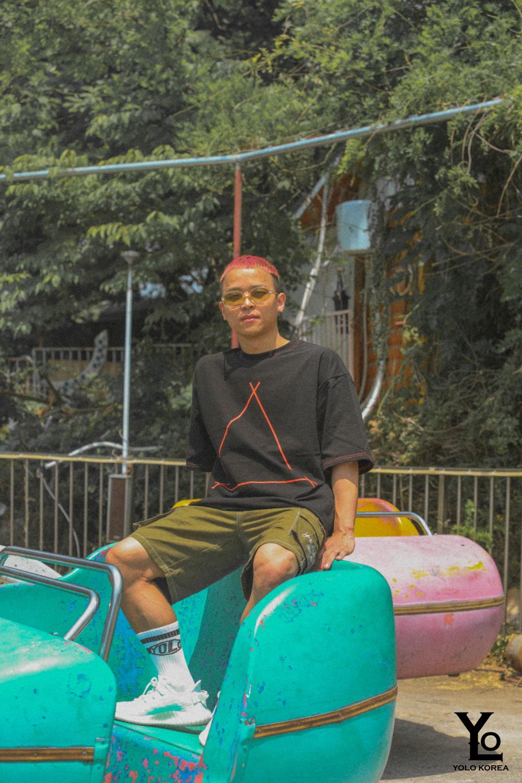 와이케이알(YKR) 타이포로고 카고 반바지 Khaki