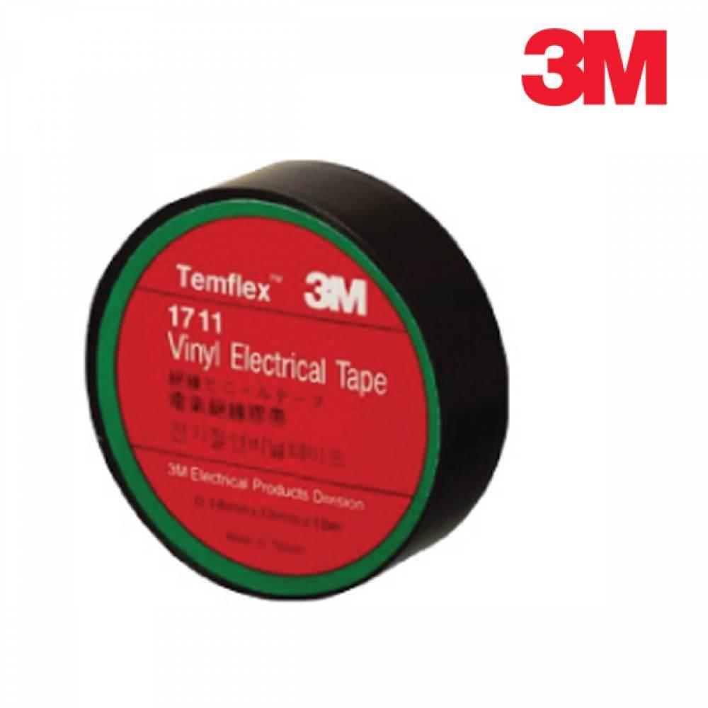 [더산3M]3M 전기절연테이프 1711/전기절연테이프/전기테이프/절연테이프/검정테이프/전선테이프/전기테잎/배선용테이프/PVC테이프