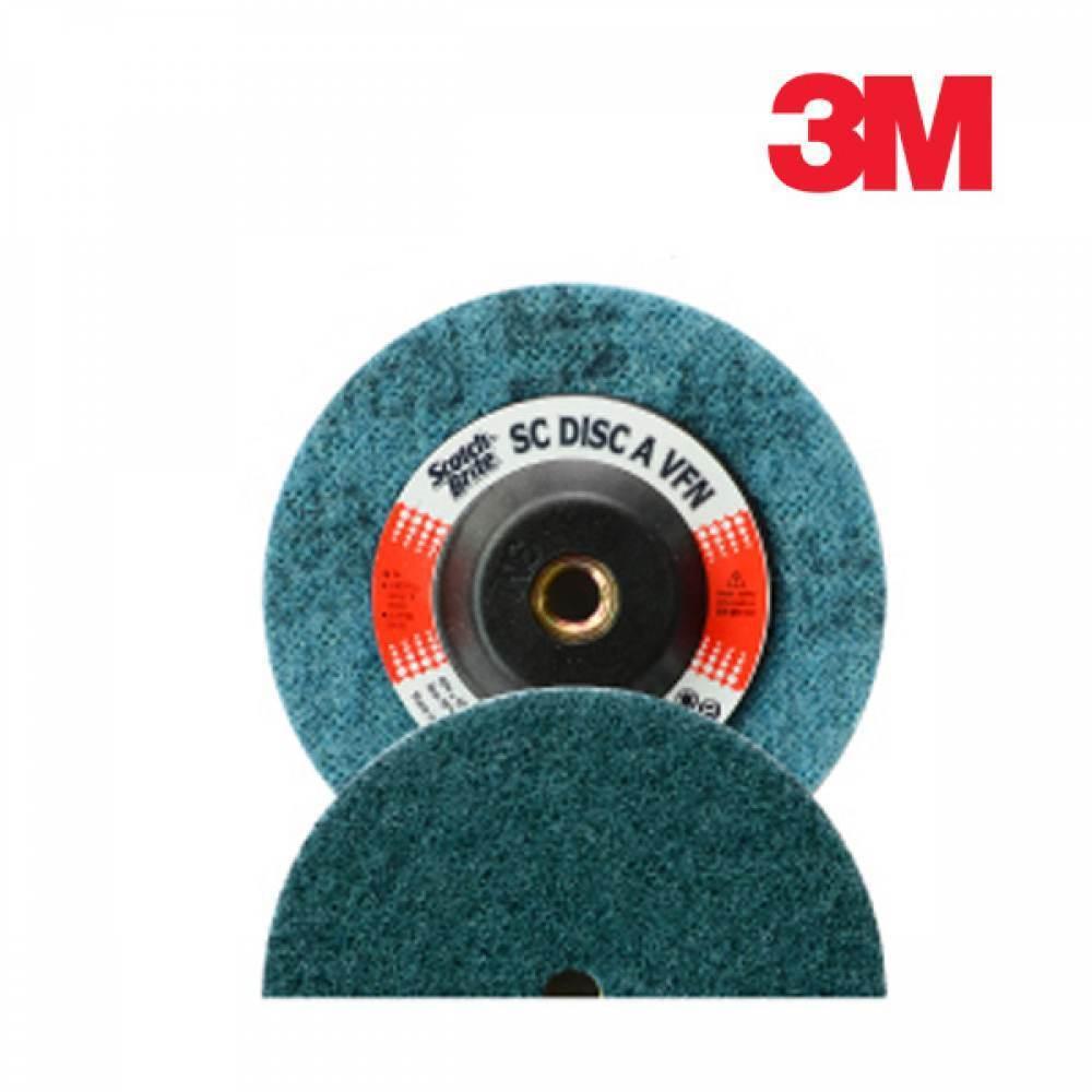 [더산3M]3M SC디스크 100mm/SC디스크/수세미디스크/연마디스크/연마제/연마재/부직포연마제/부직포연마재/절단재/녹제거