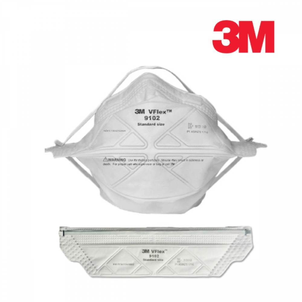 [더산3M]3M 접이식 방진마스크 9102/방진마스크/산업용마스크/안전마스크/작업용마스크/공장마스크/일반방독면/호흡보호구/접이식마스크