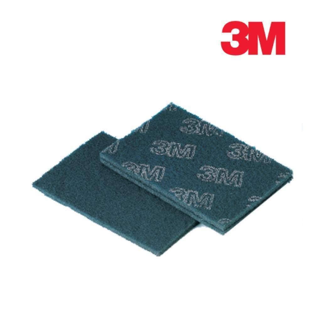 [더산3M]3M 공업용수세미 마이티블루 1박스 100장/수세미/다목적수세미/공업용수세미/산업용수세미/쑤세미/부직포수세미/블루수세미