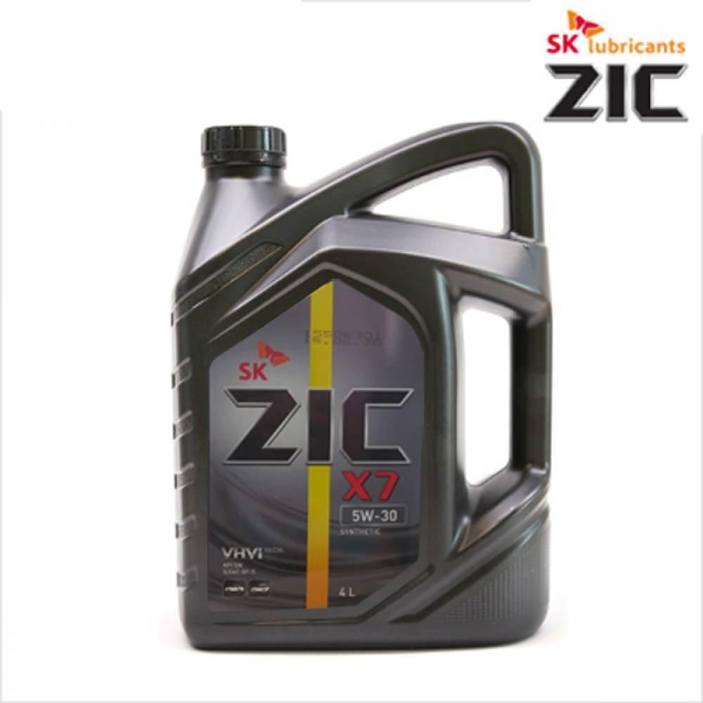 SK 가솔린 합성 엔진오일 지크 X7 4L 휘발유 LPG 겸용