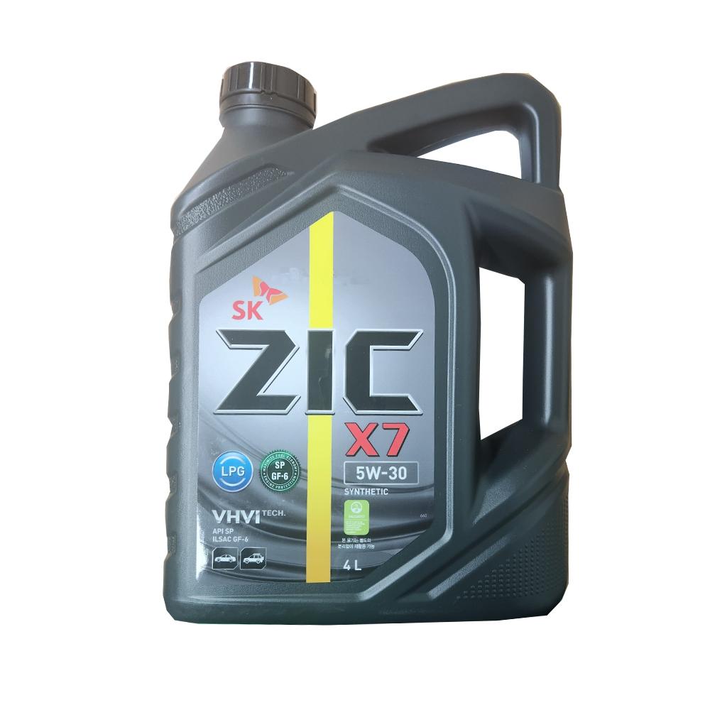 SK 합성 엔진오일 지크 X7 4L LPG 전용 가스차 전용
