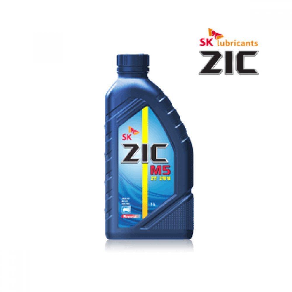 SK 2행정 오토바이 엔진오일 ZIC M5 2T 1L 예초기