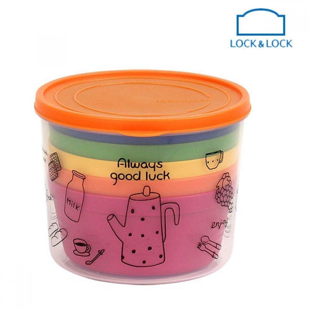 락앤락 레인보우 국그릇 세트 5개입 공기 대접 식기