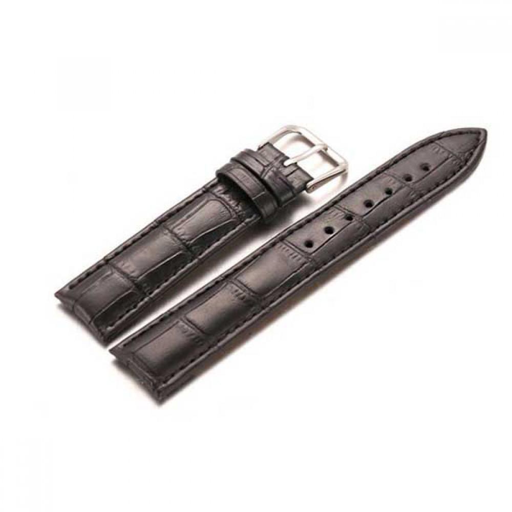 고급 가죽 클래식 시계줄 일반형 블랙