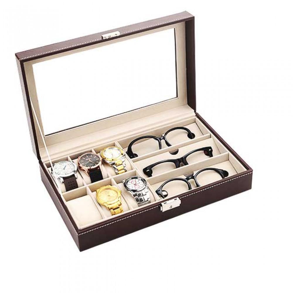 사각 시계 안경 보관함 케이스 9구