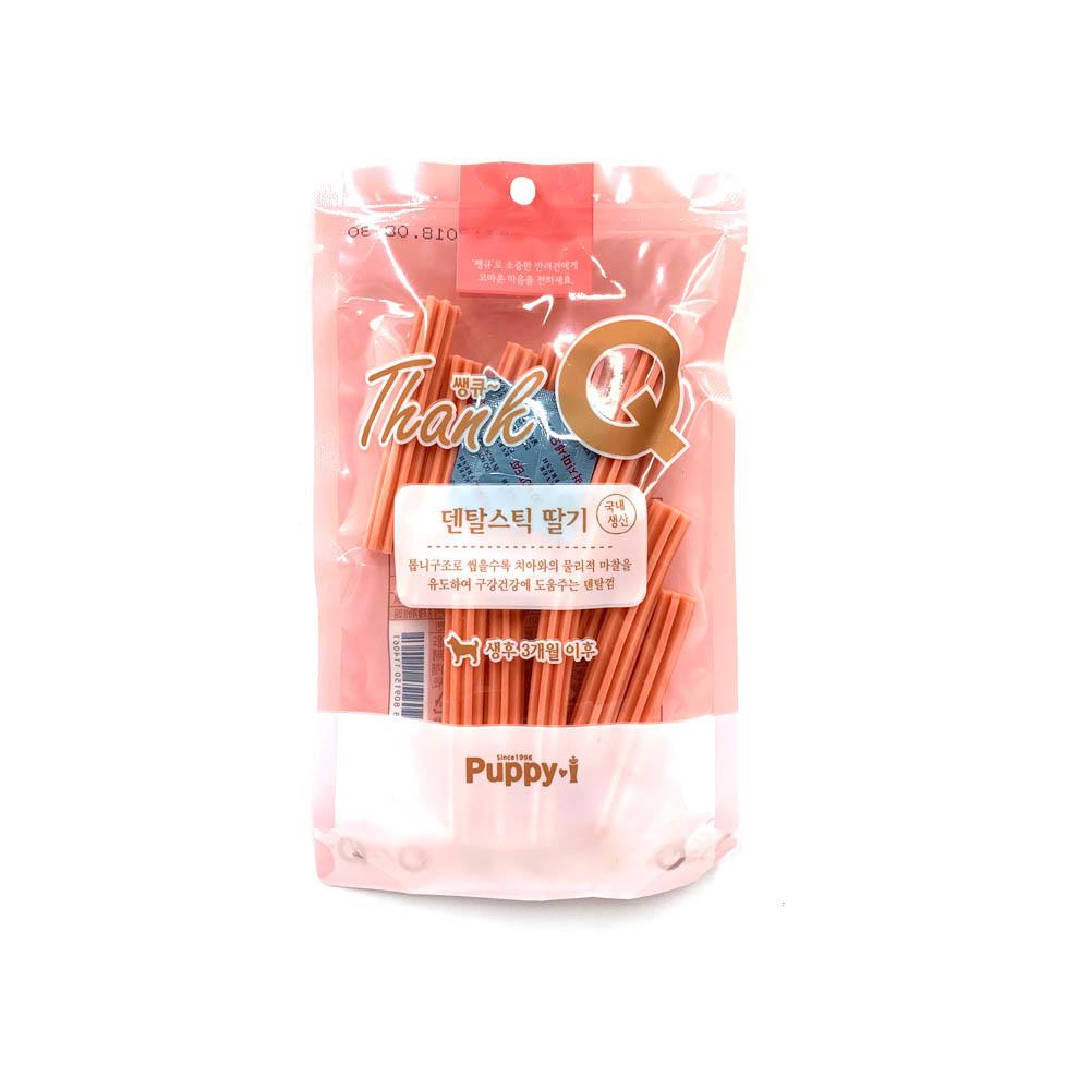쌩큐 덴탈스틱 딸기 100g 강아지껌 애견껌 간식