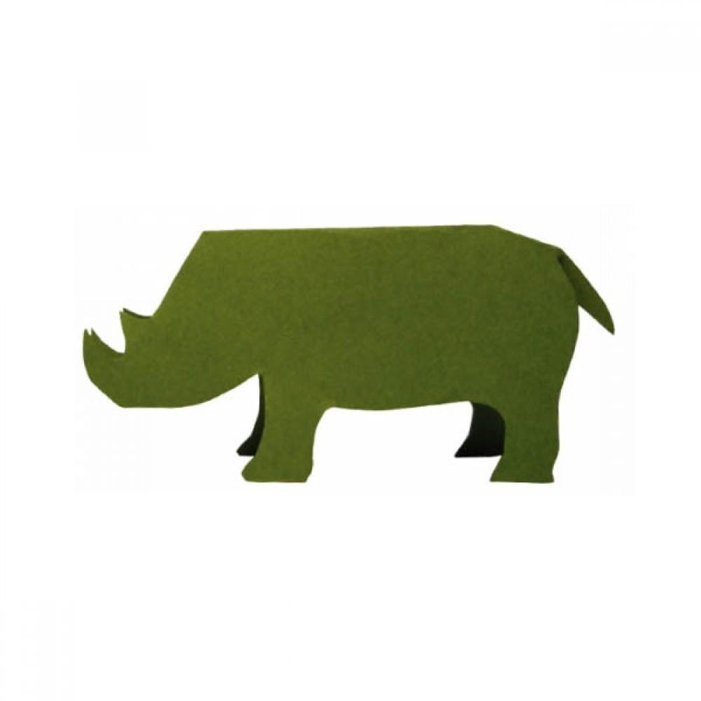 0096 팝 아웃 메모카드 메모지 코뿔소 25매 10개묶음