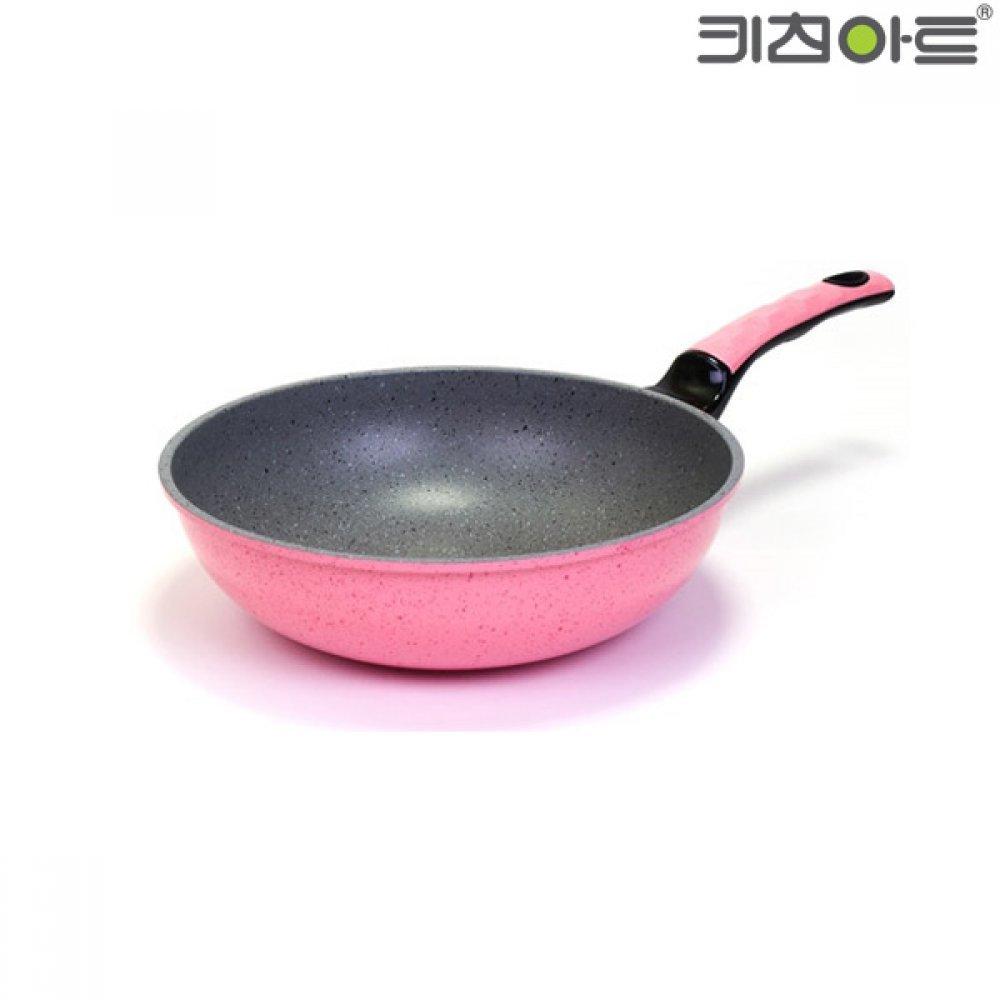 키친아트 칼라스톤 궁중팬 28cm 핑크